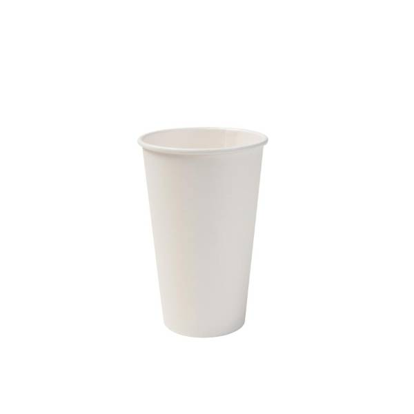 Vaso de cartón blanco eco, 400ml/16oz (1000 uds.)