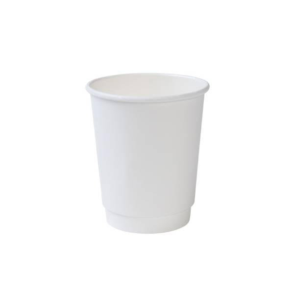 Vaso de cartón blanco eco doble capa, 200ml/8oz (500 uds.)