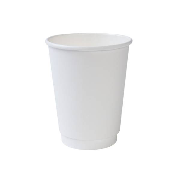 Vaso de cartón blanco eco doble capa, 300ml/12oz (500 uds.)