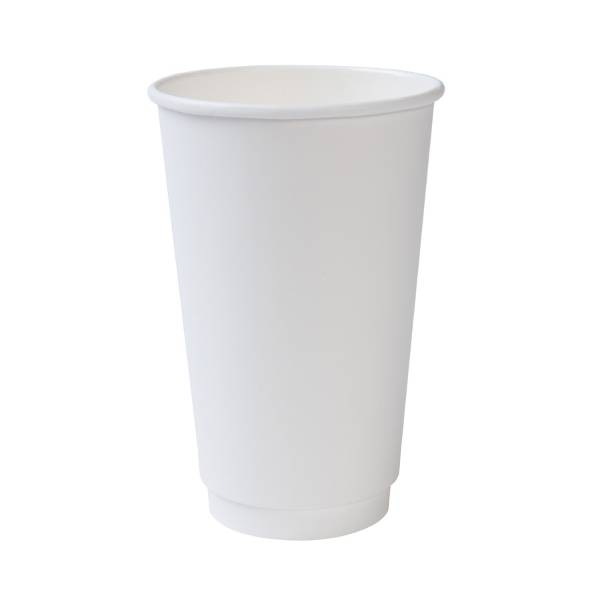 Vaso de cartón blanco eco doble capa, 400ml/16oz (500 uds.)