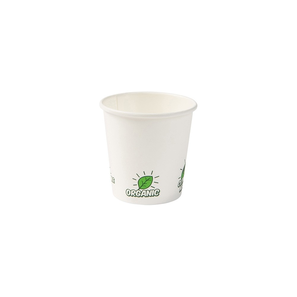 "Vaso de cartón blanco ""EcoUp©"", 100ml/4oz (1000 uds.)"