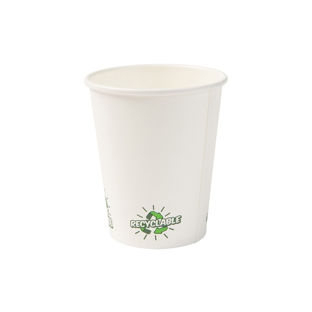 "Vaso de cartón blanco ""EcoUp©"", 200 ml / 8 oz (1000 uds.)"